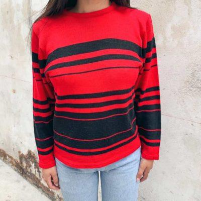 Vintage Red Striped Jersey