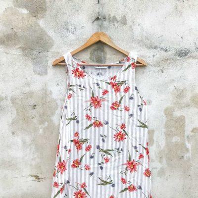 Vintage Long Loose Fitting Floral Dress