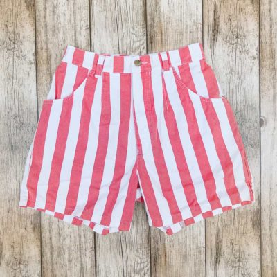 Vintage Red Striped Shorts