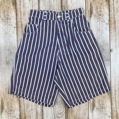 Vintage Navy Striped Shorts
