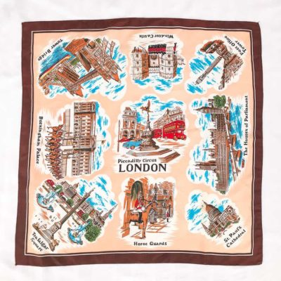 Vintage Piccadilly Circus London Scarf