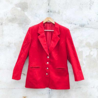 Vintage Red Blazer