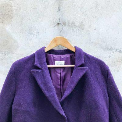 Vintage Dark Purple Blazer