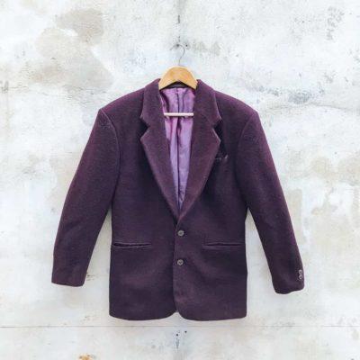 Vintage Deep Burgundy Blazer