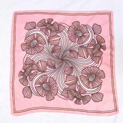 Vintage Pink Trippy Floral Scarf