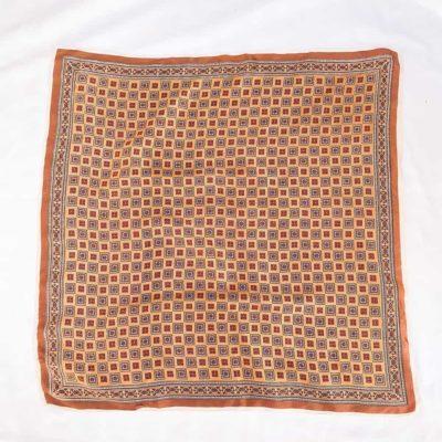 Vintage Brown Patterned Scarf