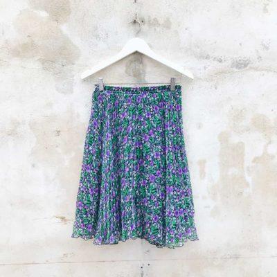 Vintage Purple & Green Floral Skirt