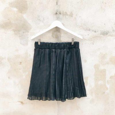 Vintage Black Pleated Mini Skirt