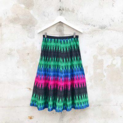 Vintage Multi-Colour Midi Skirt