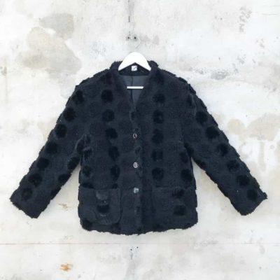 Vintage Black Faux Fur Jacket