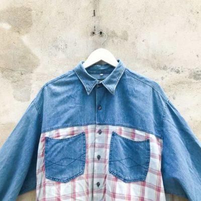 Vintage Denim & Check Shirt