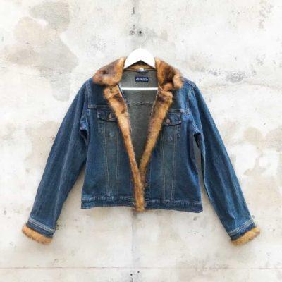 Vintage Faux Fur Denim Jacket