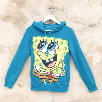 Vintage Blue Spongebob Hoodie