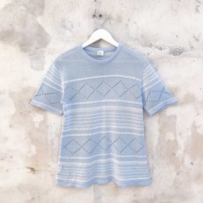 Vintage Baby Blue Knitted Top