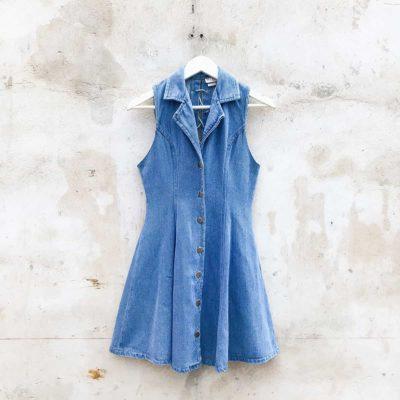 Vintage Denim Button Up Dress