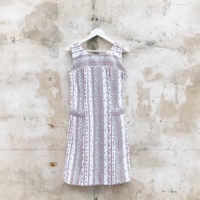 Vintage Patterned Shift Dress