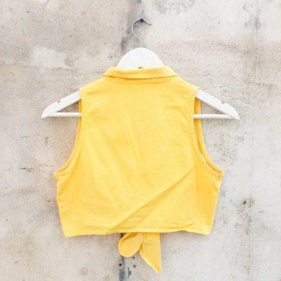 Vintage Yellow Front Tie Top