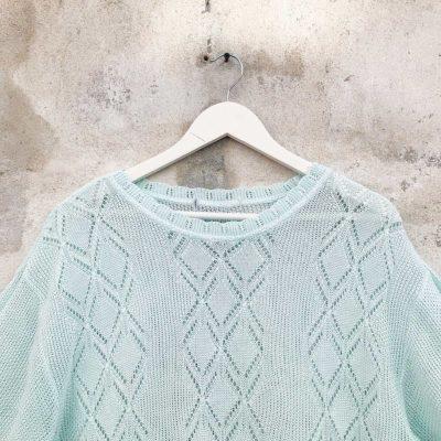 Vintage Teal Knitted Top