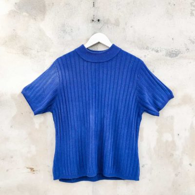 Vintage Blue Knitted Top