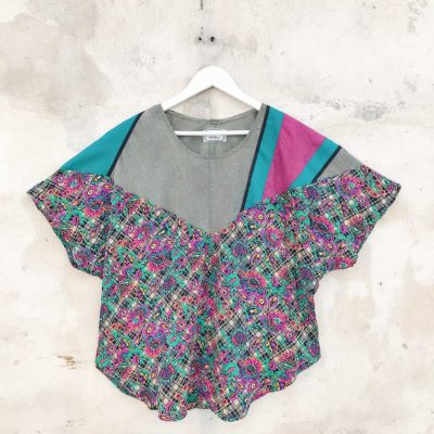 Vintage Multi-Colour Abstract Patterned Top