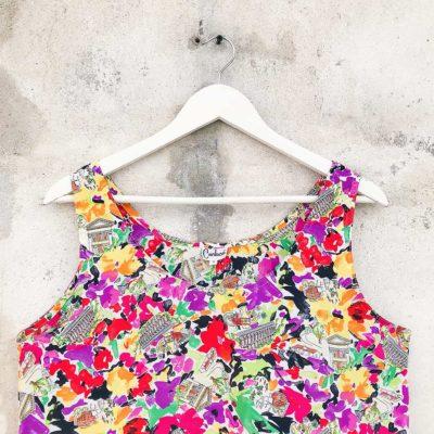 Vintage Multi-Colour Floral Blouse